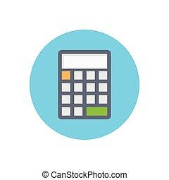 calculation flat color icon