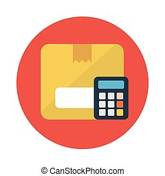 calculation flat icon