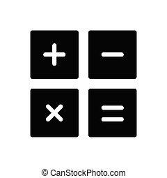 calculation glyph flat icon
