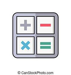 calculation line flat icon