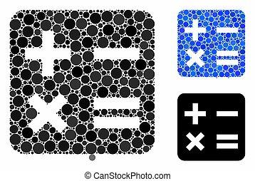 Calculation Mosaic Icon of Circles - Calculation mosaic of ...