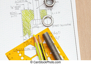 Calculation of flange bolting