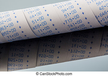 calculation strip of calculator - the calculating strip of a...
