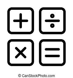 calculation  thin line icon