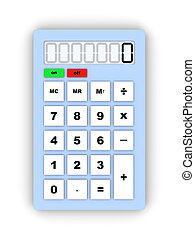 Calculator - 3D Illustration. Isolated on white.