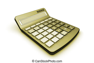 Calculator - 3D render of a calculator