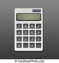 Calculator - Accounting calculator over gray background....