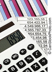 calculator and figures