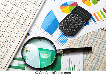 Calculator and magnifier