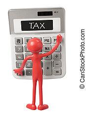 Calculator and Miniature Figure