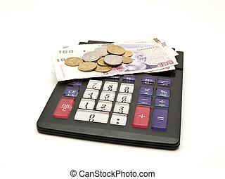 calculator and money