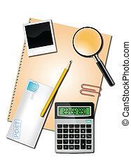 Calculator and office suppliesCalculator and office supplies