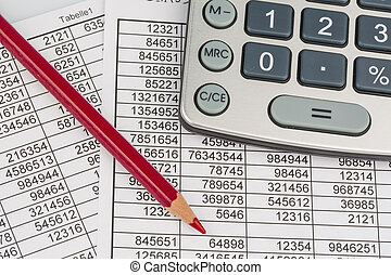 calculator and statistics - a calculator lies on the numbers...