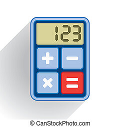 Calculator, application icon - flat style