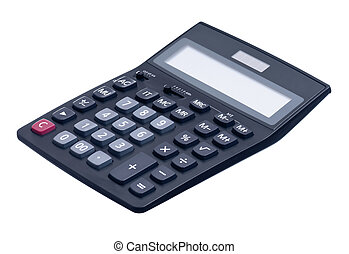 Calculator - Big black calculator isolated on white ...