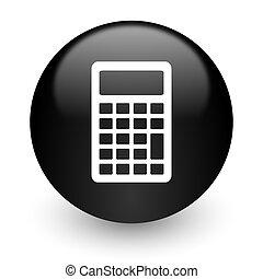 calculator black glossy internet icon