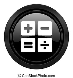 calculator black icon calc sign