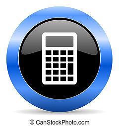 calculator blue glossy icon