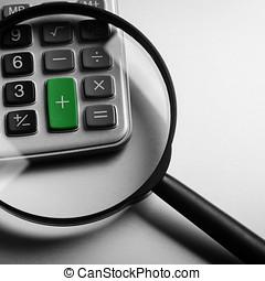 calculator button plus