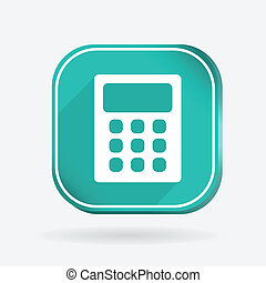 calculator. Color square icon