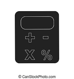 calculator device icon , vector