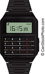 Calculator digital watch