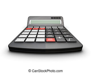 Calculator - 3D render of a calculator