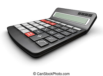 Calculator - 3D render of a calcuator
