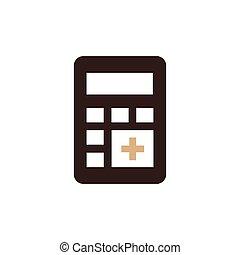 calculator flat design icon brown color