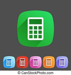 calculator flat icon