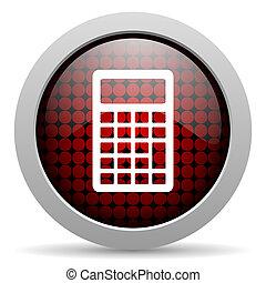 calculator glossy icon