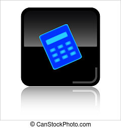 Calculator glossy web icon