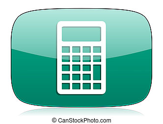 calculator green icon