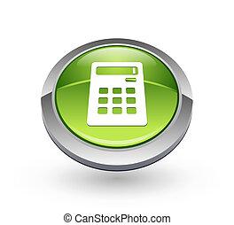 Calculator - Green sphere button