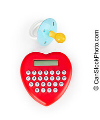 Calculator heart shaped and pacifie