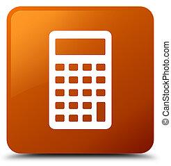 Calculator icon brown square button
