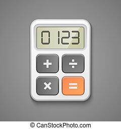 Calculator icon business concept vector illustration