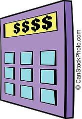 Calculator icon cartoon