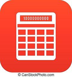 Calculator icon digital red