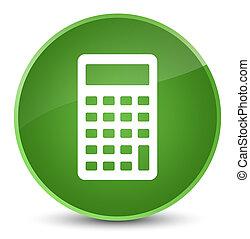 Calculator icon elegant soft green round button