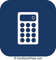 Calculator icon. Flat design style