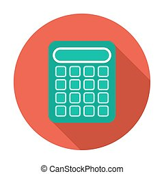 Calculator icon. Flat design vector illustration.
