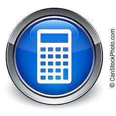 Calculator icon glossy blue button