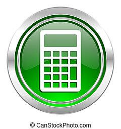 calculator icon, green button