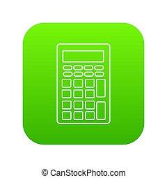 Calculator icon green