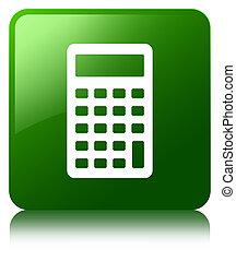 Calculator icon green square button