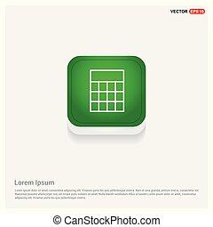 Calculator icon Green Web Button