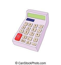 Calculator icon in cartoon style