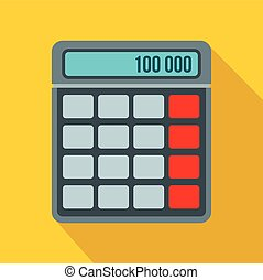Calculator icon in flat style