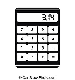 Calculator icon in simple style